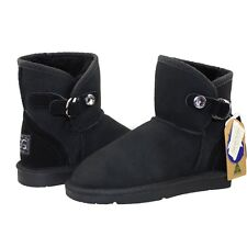 JUMBO UGG Boots Winter Fashion Warm Women Men Genuine  HADLEY MINI - SWAROVSKI