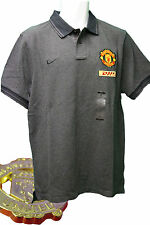 New NIKE MANCHESTER UNITED Football Core Polo Shirt Charcoal Grey L- XXL