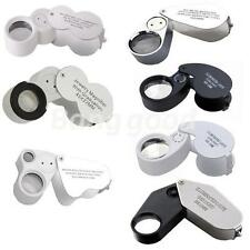 20x 30x 40x 45x 60x Glass Magnifying Magnifier Eye Jewelry Loupe Loop Led Light
