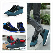 Men's Winter Casual Nubuck High Top Lace up Slip on Comfy Shoes Ankle Boots BM58