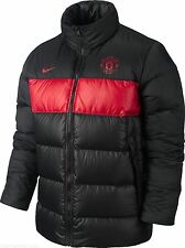 New Nike Manchester United Padded Down Jacket Winter Puffer Coat Black Man Utd