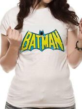 Batman - Retro Logo Ladies Skinny T-Shirt - New - Official DC Comics In Bag