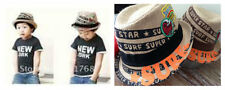 boys or girls straw surf fedora hats - 52cm - fits approx 3-6 year