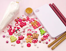ALL-IN-ONE DIY Christmas Decoden Kit - Inc. Case, Clay, Cabs, Sprinkles & Sauce