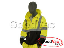 MAJESTIC 75-5325 High Visibility Front Zipper Protective Sweatshirt ANSI 3 ISEA