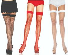 SPANDEX PLAIN TOP INDUSTRIAL NET Wide Fishnet Stockings 5 COLORS  O/S & PLUS