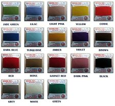 GRIFFIN 100% SILK CORD BEADING STRINGING THREAD COLORFUL #0-2-4-6-8-10-12-14-16