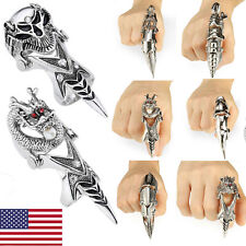 Men's Spike Armor Knuckle Joint Full Punk Gothic Finger Cool Ring Xmas Gift