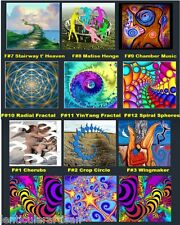 "Spiritual new age fractal ikon Images in 3-D Holograms 8"" 20 cm Sq  Wall Plaques"