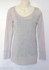 NEW LADIES EX CHAINSTORE GREY CAMISOLE & TUNIC TOP SIZE 8 - 20 BNWOT