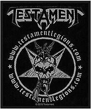 TESTAMENT Official LICENSED Sew-on WOVEN PATCH