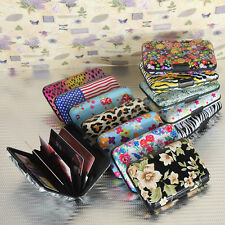 Colorful Pocket Waterproof Business ID Credit Card Wallet Holder Case Box Metal