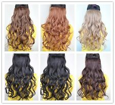 New  Women Long Wave Onepiece Clip in on Hair Extensions 6 colors BP19