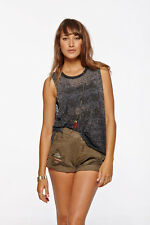 NEW CHASER Vintage Black SUEDE PUFF STAR Burnout Tank Top SIZE S,M,L -50% OFF
