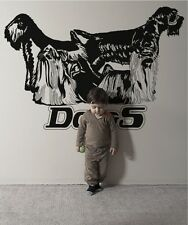 Vinyl Wall Decal Sticker Long Haired Dogs OS_AA617s 72W x 49H