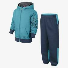 Nike Boys Kids Blue Hooded Full Zip Fleece Tracksuit        Age 5-8 Years