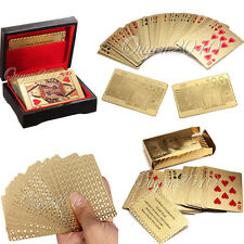 24K Karat Gold Foil Plated Game Poker Playing Cards With w/ Box And Certificate