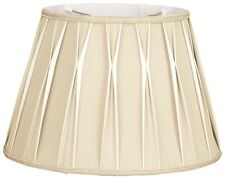 Two Tone Box Pleated lamp shade with top pinch pleat in 3 colors (14, 16 in)