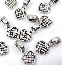 Silver Pewter Heart Glue On Flat Pads Create U own Pendant ~ Choose Quantity