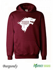 WINTER IS COMING STARK GAME OF THRONES MENS WOMENS  Hoodie S-XXL - Burgundy II
