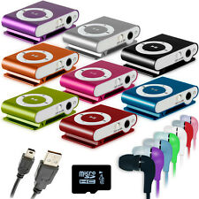 REPRODUCTOR LECTOR MP3 PLAYER CLIP ALUMINIO MINI USB MICRO SD 2GB 4GB CASCOS MIC
