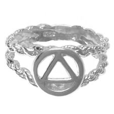 Alcoholics Anonymous AA Symbol Circle Triangle on a Open Rope Style Band, #106