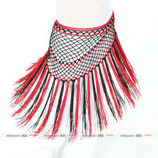 Mix Color Hand Hook Short Tassels Triangle Shawl Hip Scarf Belly Dance