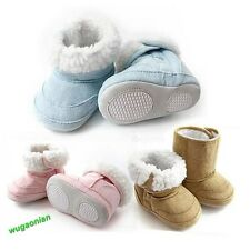 2014 Baby Infant Toddler Boys Girls Warm fur Winter Snow Shoes Boots 6-22 Months