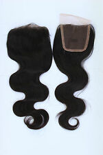 "5A LACE TOP CLOSURE REMY Virgin Brazilian Human Hair Closure 4""x4"" Wave 10""-20"""