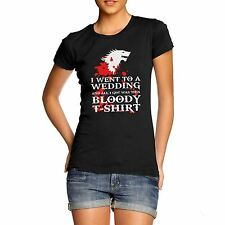 Womens Printed Graphic Game Of Thrones Inspired Dire Wolf T-Shirt