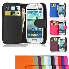 MAGNETIC WALLET PU LEATHER CASE COVER HOLDER STAND SAMSUNG GALAXY S3 Mini i8190