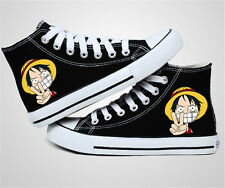 One Piece anime autumn casual high-top canvas shoes