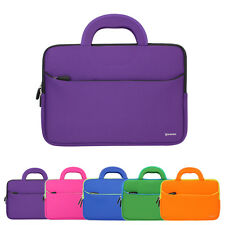 Neoprene Dual Pocket Sleeve Case Handle Carrying Bag For 10.6inch~12inch Tablet