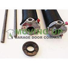 "Pair of 234 X 2"" X All Lengths Garage Door Torsion Springs with Winding Bars"