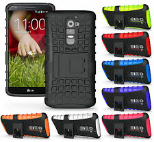 GRENADE RUGGED TPU SKIN HARD CASE COVER STAND FOR LG G2 PHONE D800 D801 LS980