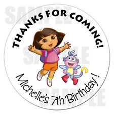 Dora the Explorer Personalized Birthday Sticker Gift Favor Party Label 2.5""