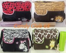 Baby Nappy Waterproof Changing Messenger Bag Zebra/Giraffe/Tiger Patterns