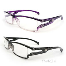 Reading Glasses Single Vision Rectangle Frame Silver Pattern Readers 100-250