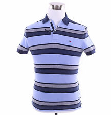 Tommy Hilfiger Men Short Sleeve Logo Custom Fit Stripe Polo Shirt - $0 Shipping
