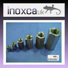 STAINLESS STEEL STUDDING CONNECTOR STUD ROD BAR HEX HEXAGON LONG NUT A2 304
