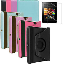 New Pastel Folio 360 Case Cover Shell Stand + Screen Film for Kindle Fire HD 7""