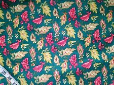 Floral flannel fabric leaf paisley cotton print quilt sewing material BTY