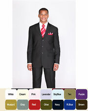 Men's basic suit  (come with pants )  20 + colors by Milaono Moda #802P
