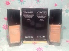 Chanel Vitalumiere Satin Smoothing Fluid Makeup SPF 15 30ml New