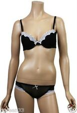 Ladies Black Lace Bra & Knickers Set By Jolie Seducation Lingerie RRP £20.00