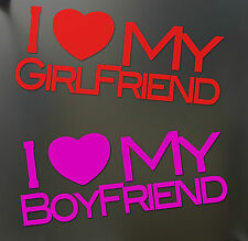 I ♥ MY BOYFRIEND or GIRLFRIEND Sticker Love Heart JDM Car Window Valentines day