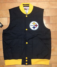 MITCHELL AND NESS PITTSBURGH STEELERS VEST SZ M-3XL FREE AGENT VEST STEELERS