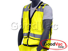 Majestic High Visibility Mesh Safety Heavy Duty Vest ANSI ISEA 107-2010 Class 2