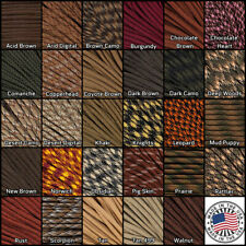 21 Browns 550 Type III 7 Strand MilSpec Commercial Paracord 10, 25, 50, 100 feet