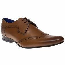 New Mens Ted Baker Tan Hann Leather Shoes Brogue Lace Up